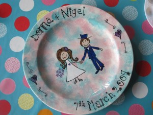 "Wedding Plates, commissions taken. 12"" plates start from £40"