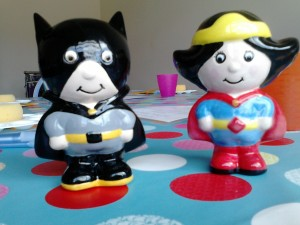 What does batboy say when he's hungry? I want my dinner dinner dinner dinner dinner dinner dinner dinner dinner mum! Batboy and Wondergirl both £11.20