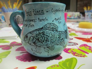 made for a friend whose favourite fish is the tench...everyone has a favourite fish don't they?!