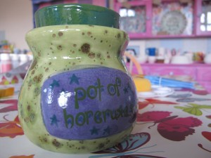 Just what every budding witch or wizard needs....a special jar for keeping their horcrux collection in! Sayings pot £22.50