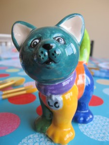 Our unconventional colourful cat! £10.50