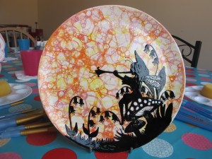 "8"" plate, can be commissioned. Prices start from £30"