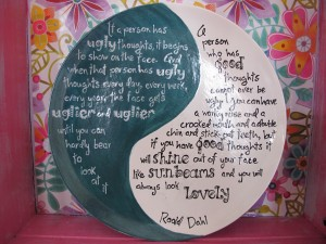 "The full version of Dahl's sunbeam quote from The Twits. I love that book! 12"" plates £18.40"