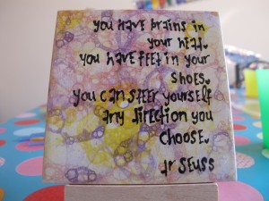 "which direction shall you choose? 4"" tiles £4"
