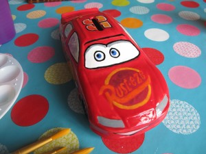 Vroom Vroom....Lightening will keep your pennies safe! Racing car money bank £20