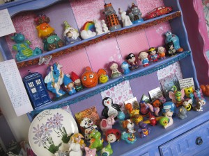 Here's our cabinet with all our colourful critters...still a little room for some more!